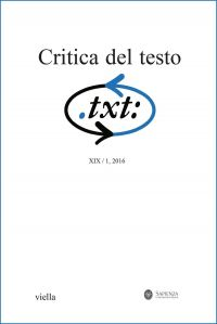 Critica del testo (2016) Vol. 19/1