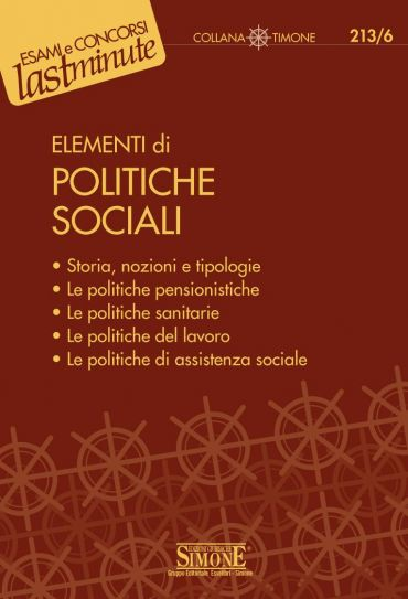 Elementi di Politiche Sociali