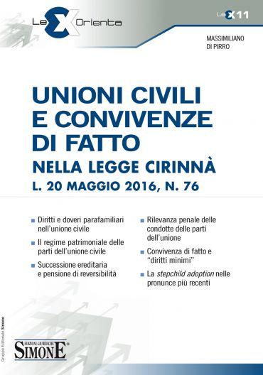Unioni civili e convivenze di fatto nella legge Cirinnà L. 20 ma