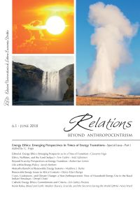 Relations. Beyond Anthropocentrism. Vol 6, No 1 (2018). Energy E