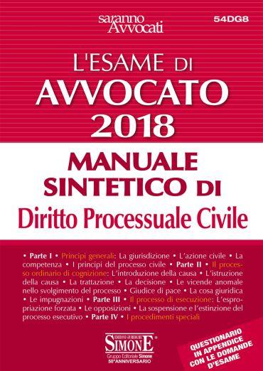 L'Esame orale di Avvocato 2018 - Manaule sintetico di Diritto Pr