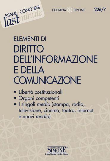 Elementi di Diritto dell'Informazione e della Comunicazione