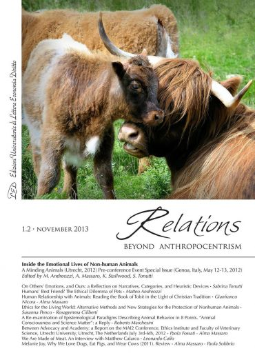 Relations. Beyond Anthropocentrism, 1.2 - November 2013