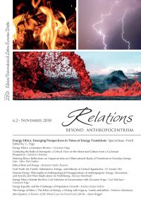 Relations. Beyond Anthropocentrism. Vol. 6, No. 2 (2018). Energy