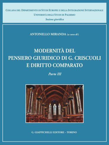 Modernità del pensiero giuridico di G. Criscuoli e diritto compa